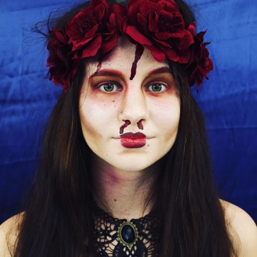 makeup curio zombie woman