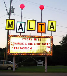 malta drive-in sign