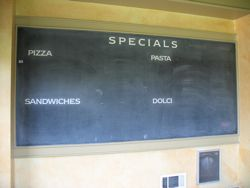 mangia chalkboard