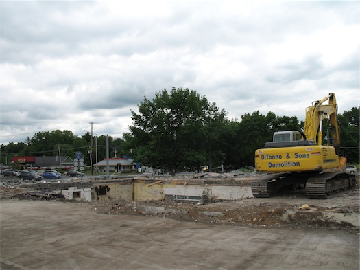 the Mangia site at Stuyvesant Plaza demolished