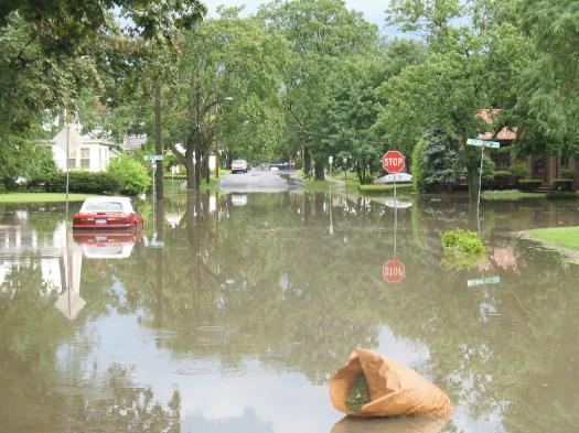 Manning Blvd as a lake