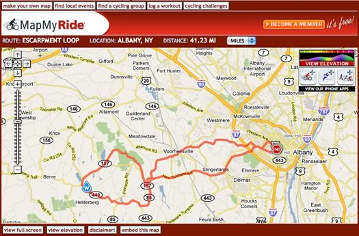 mapmyride escarpment loop
