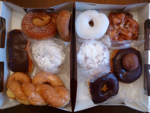 Market Bistro donuts in boxes