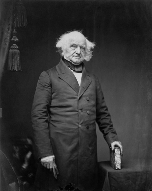 martin van buren portrait photo by mathew brady c1855