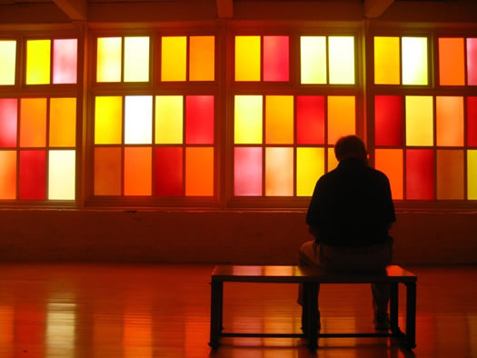 a Spencer Finch installation at MASS MoCA