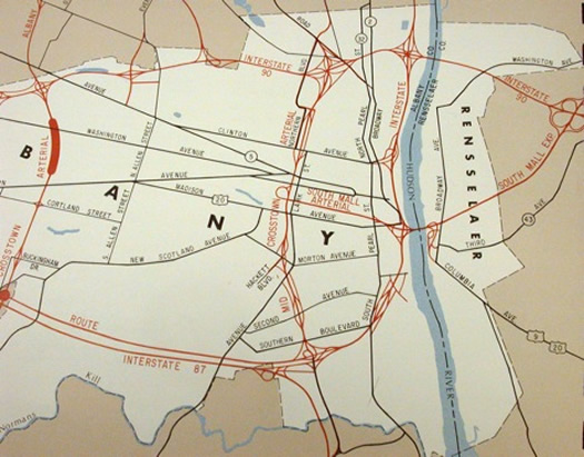 mid-crosstown arterial interstate map