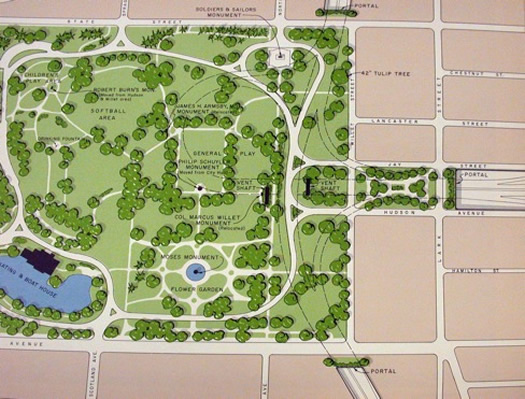 mid-crosstown arterial washington park map