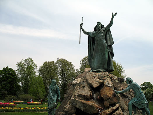 Moses statue Washington park Albany