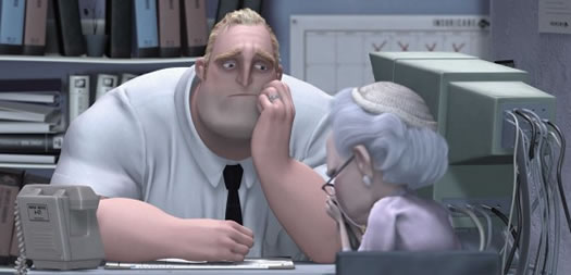 mr incredible at his office job