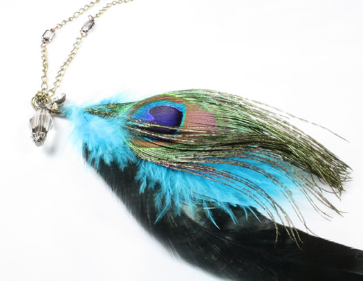 nadine medina jewelry peacock necklace