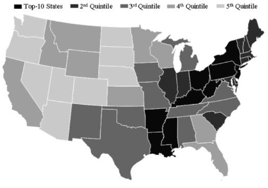 national neuroticism map