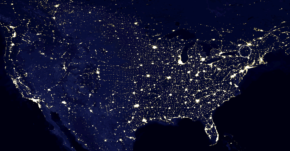 national satellite night adirondacks highlight