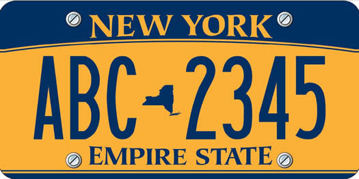new gold license plates