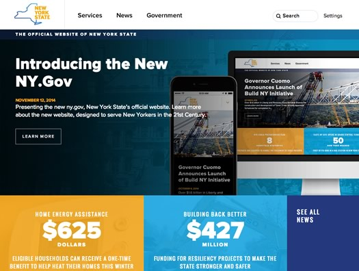 new ny gov website screengrab