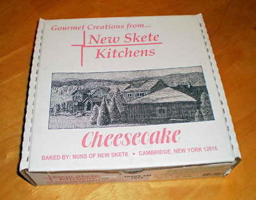 new skete cheesecake box