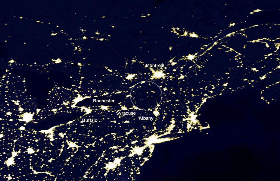 new york satellite night