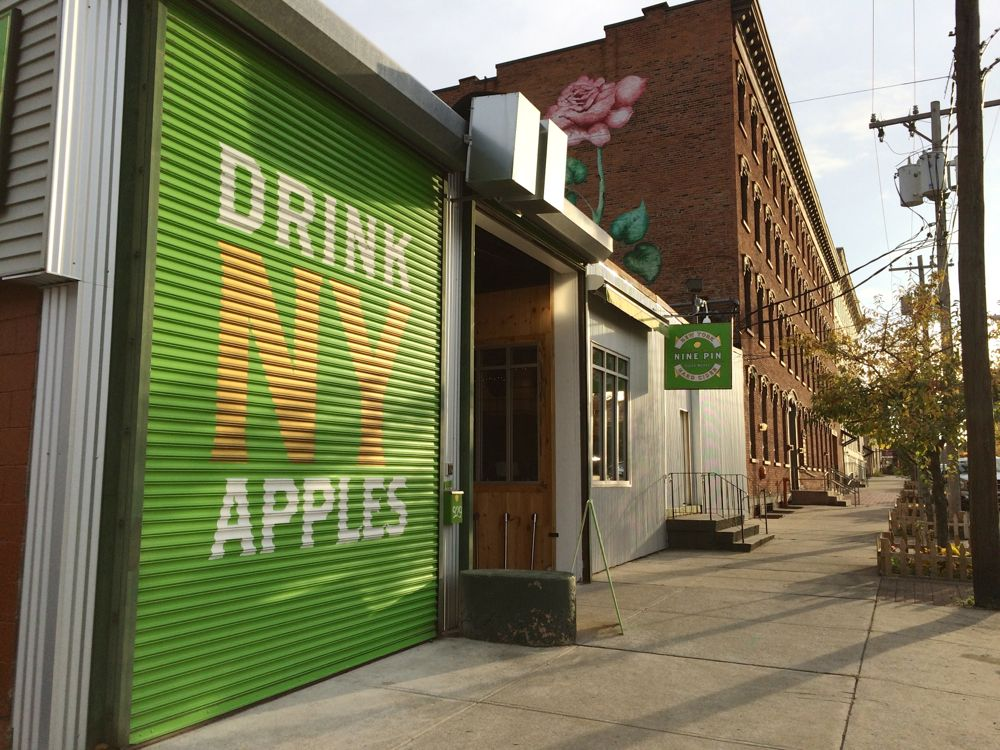 nine pin cider works exterior