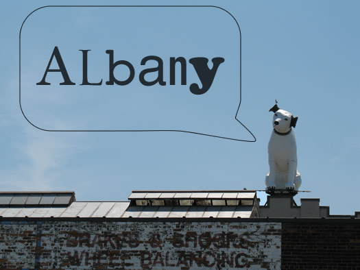 nipper albany typeface word bubble