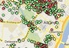no longer vacant Albany map clip