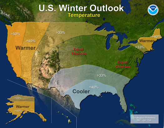 2014-2015 Winter Weather Forecast Map