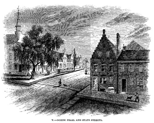 north pearl and state 1800s illustration by james eights