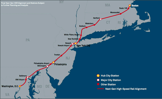 northeast corridor high speed rail