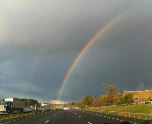 northway double rainbow 2011-October