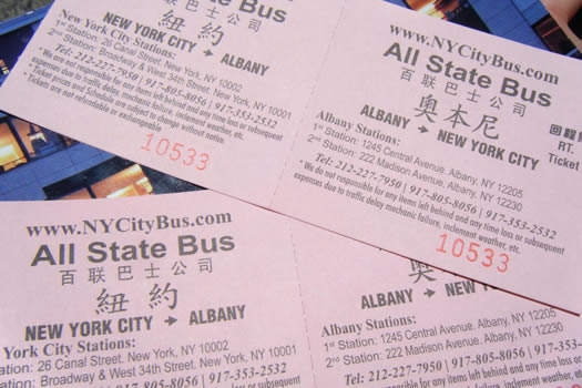 NY City Bus tickets
