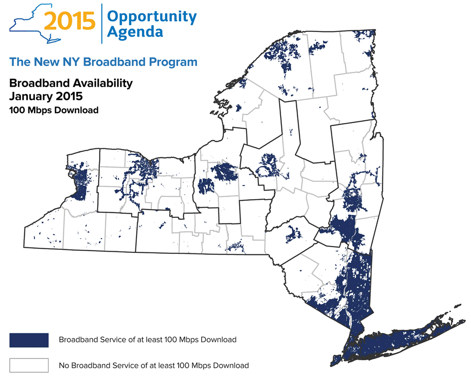 nys 100 mbps  broadband map