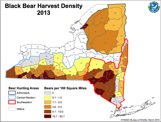 nys dec bear harvest 2013 areas