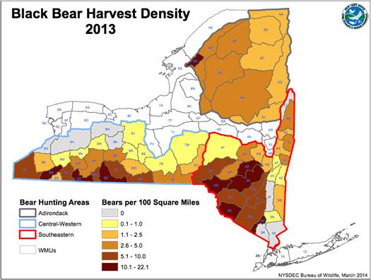 nys dec bear harvest 2013 areas