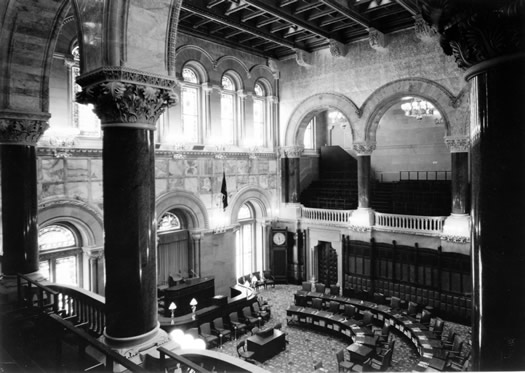 new york state senate chamber bw