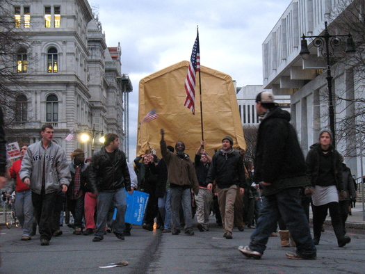 occupy albany tent on state street