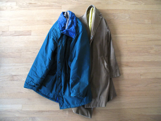 old winter coats