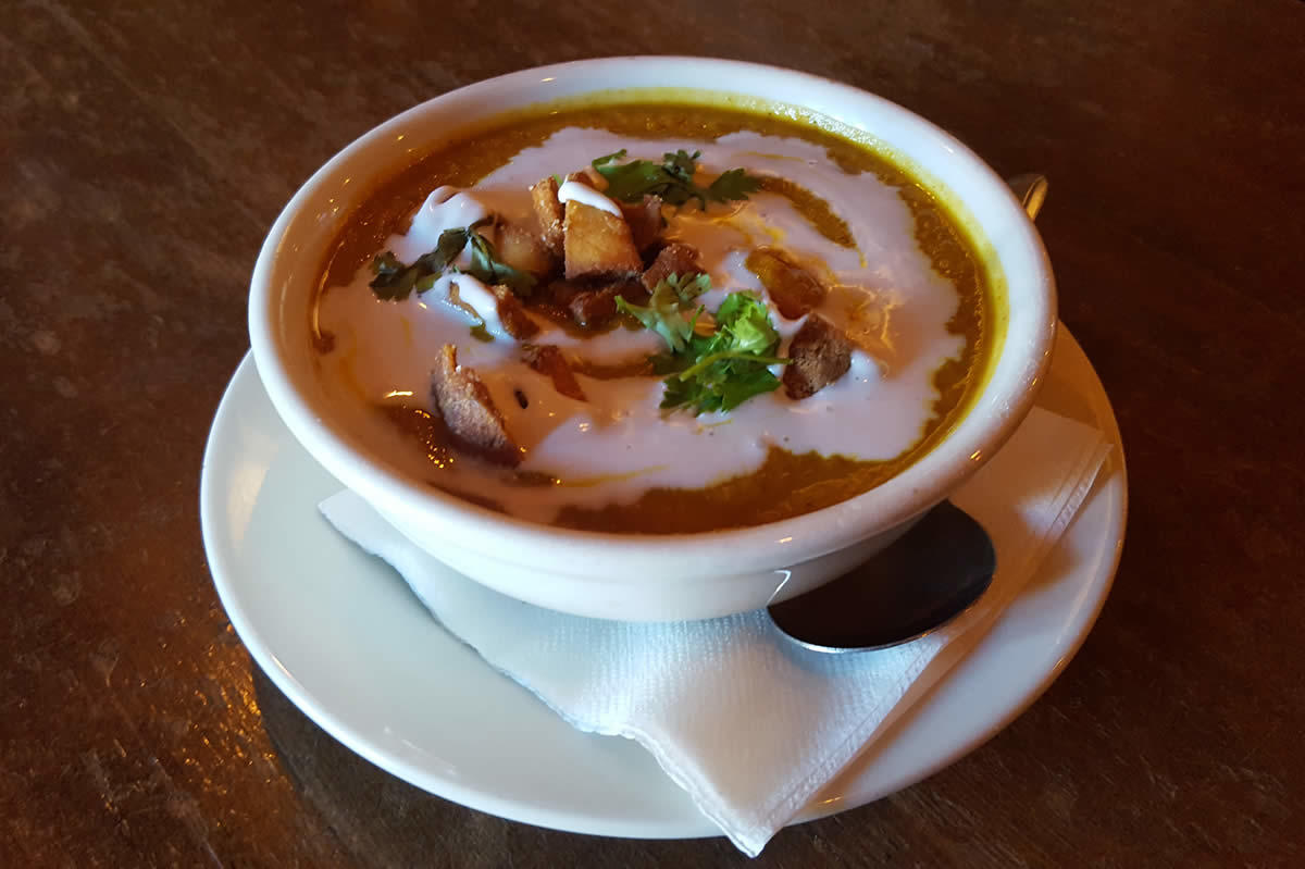 olde english curried carrot soup