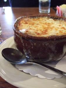 onion soup at the Olde Bryan Inn