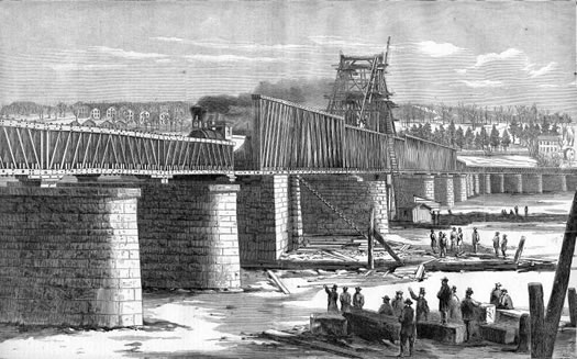 original livingston ave bridge in harpers weekly