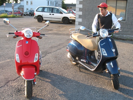 Peter Caschera with Vespas