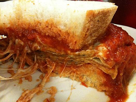 Peter Pause eggplant sandwich closeup