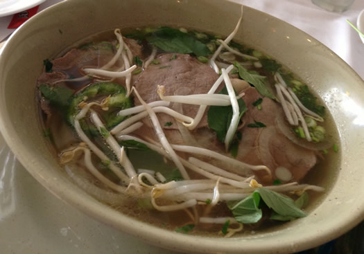 pho with garnishes kims restaurant albany