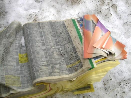 phonebook in snow