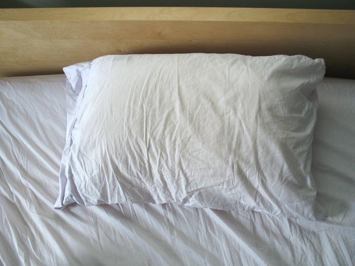 pillow on bed
