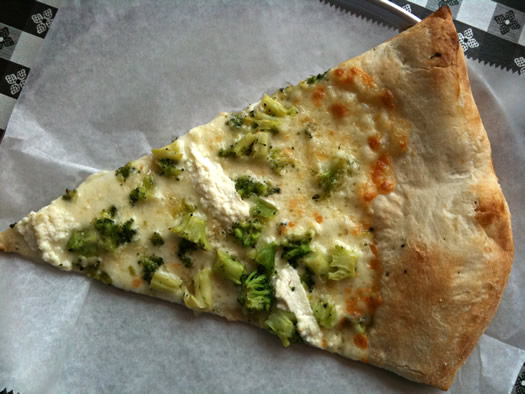 pizza king slice broccoli ricotta