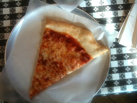 pizza king slice from above