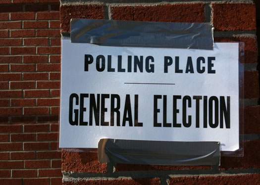 polling place general election sign
