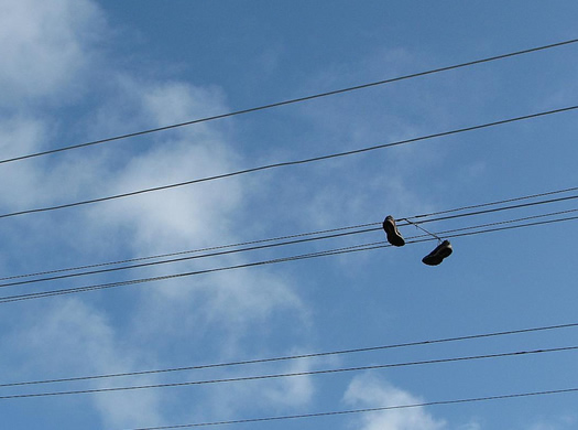 power lines shoes