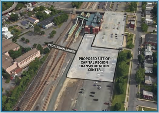 proposed capital region transit center site