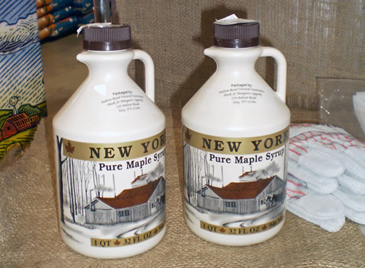 quart jugs of maple syrup capital agway