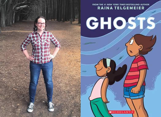 raina telgemeier ghosts book cover