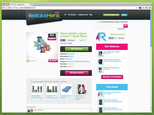 RebateHero screengrab